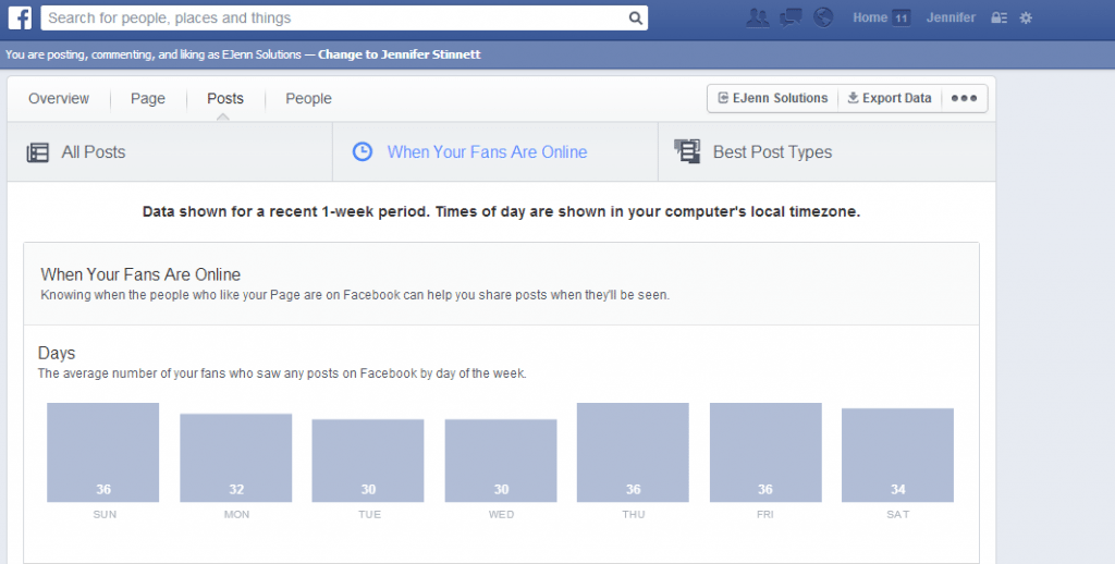how to know when to post on Facebook page, when to post on facebook page