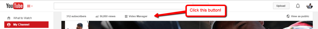 YouTube Video Manager Button