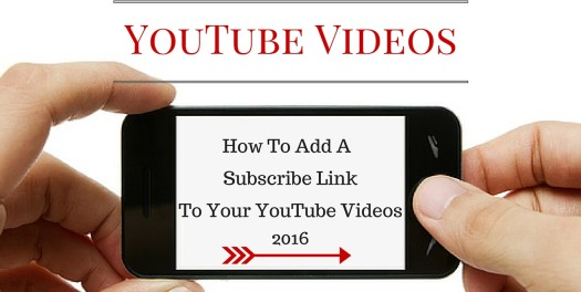 How To Add A Subscribe Link To Your Videos