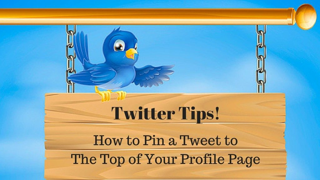 how to pin a tweet to the top