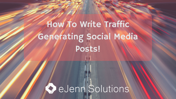 How To Write A Traffic Generating Facebook Post!